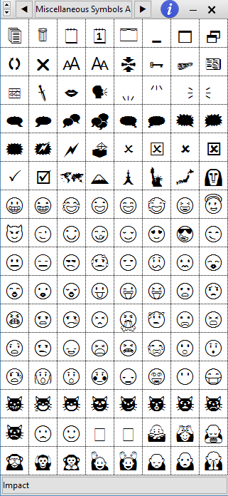 Char Menu fetching emoticons